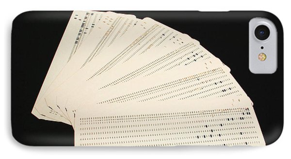 Punch Cards Phone Case by Photo Researchers, Inc.