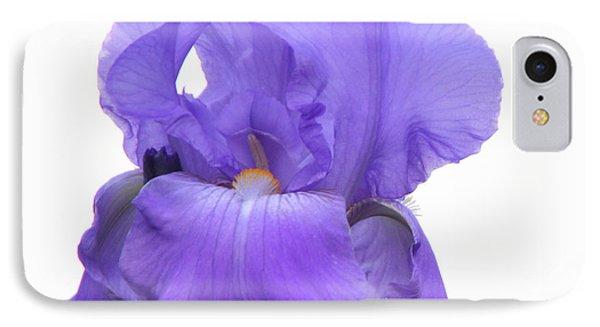 Purple Iris On White IPhone Case