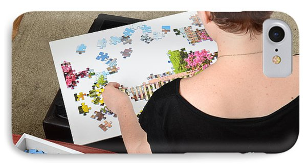 Puzzle Therapy Phone Case by Photo Researchers, Inc.
