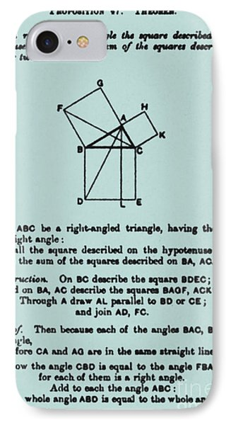 Pythagorean Theorem In English Phone Case by Science Source