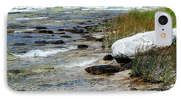 Quiet Waves Along The Shore IPhone Case by Janice Adomeit