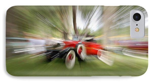 Red Antique Car IPhone Case by Randy J Heath