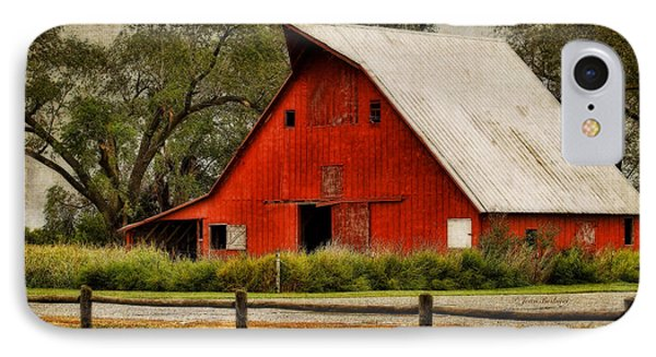 Red Barn Phone Case by Joan Bertucci