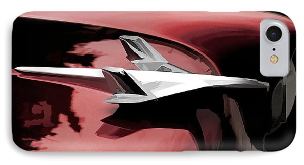 Red Chevy Jet IPhone Case by Douglas Pittman