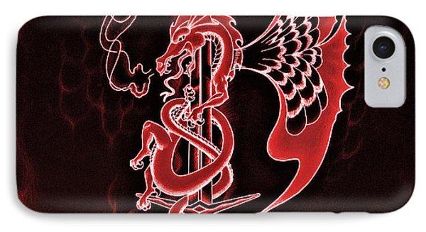 Red Dragon Sword II IPhone Case