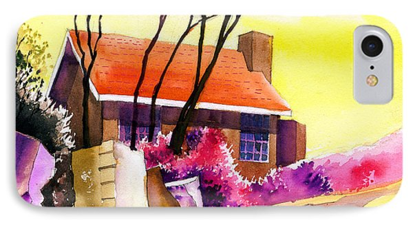 Red House Phone Case by Anil Nene