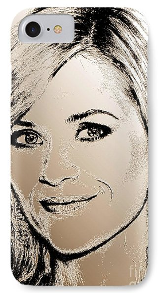 Reese Witherspoon In 2010 Phone Case by J McCombie