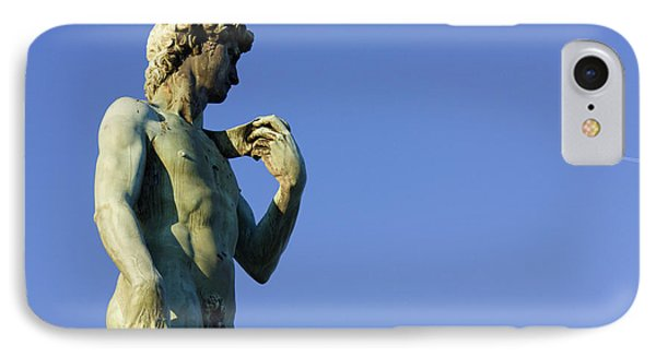 Replica Of Michelangelos David In The Piazza Michelangelo Phone Case by Jeremy Woodhouse