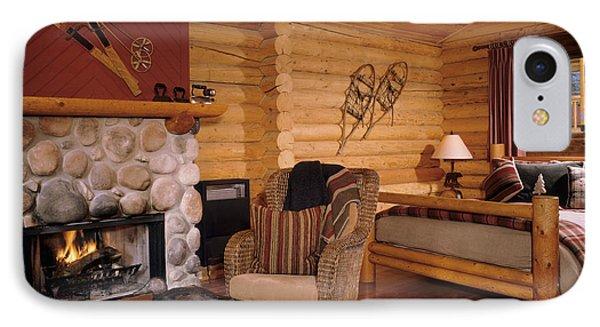 Resort Log Cabin Interior Phone Case by Robert Pisano