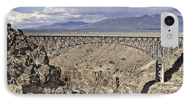 Rio Grande Gorge Bridge Phone Case by Melany Sarafis