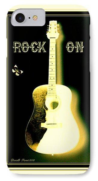 Rock On Guitar Phone Case by Danielle  Parent