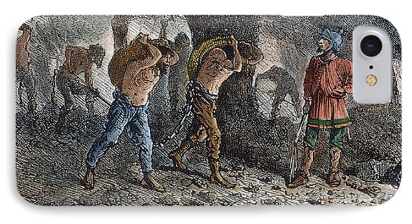 Roman Slavery: Coal Mine Phone Case by Granger