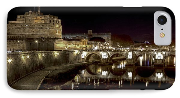 Rome Ponte San Angelo IPhone Case by Joana Kruse