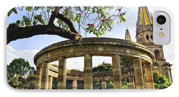 Rotunda Of Illustrious Jalisciences And Guadalajara Cathedral Phone Case by Elena Elisseeva