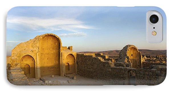 Ruins Of Shivta Byzantine Church Phone Case by Nir Ben-Yosef