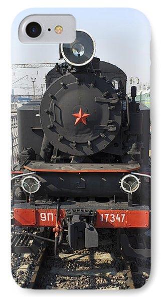 Russian Steam Locomotive 9p-17347 Phone Case by Igor Sinitsyn