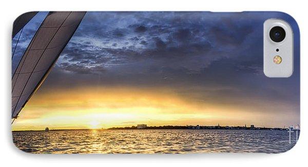 Sailing Sunset Charleston Sc Phone Case by Dustin K Ryan