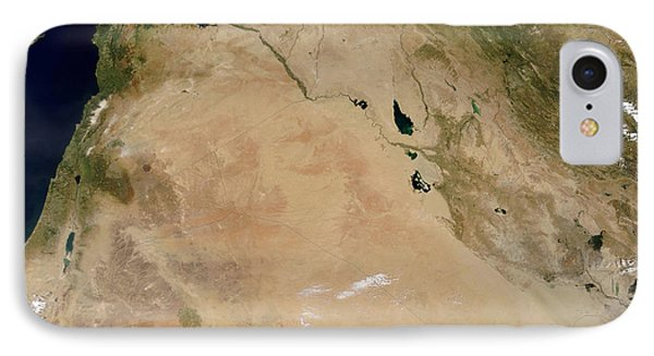 Satellite View Of The Middle East Phone Case by Stocktrek Images