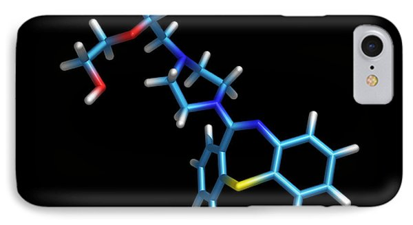 Schizophrenia Drug Molecule Phone Case by Dr Tim Evans