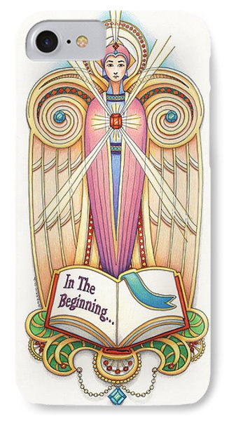 Scroll Angel - Ionica Phone Case by Amy S Turner
