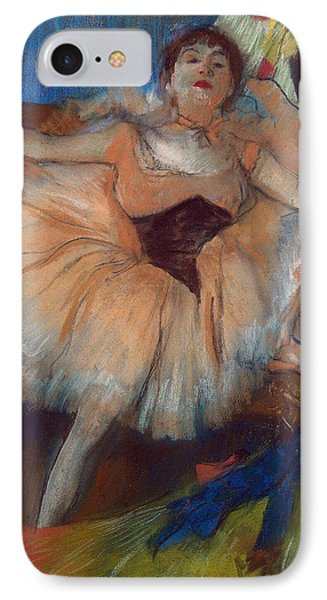 Seated Dancer IPhone Case by Edgar Degas