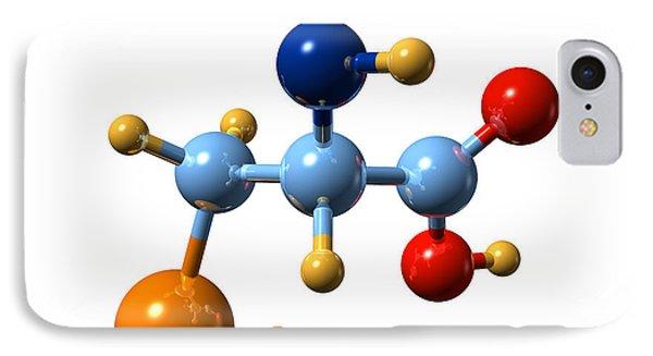 Selenocysteine, Molecular Model Phone Case by Dr Mark J. Winter