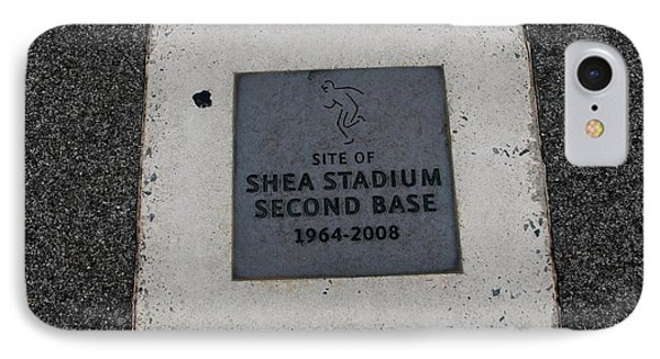 Shea Stadium Second Base Phone Case by Rob Hans