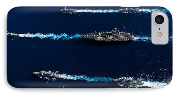 Ships From The John C. Stennis Carrier Phone Case by Stocktrek Images