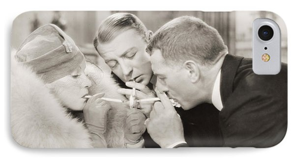 Silent Film Still: Smoking IPhone Case by Granger