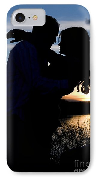 Silhouette Of Romantic Couple IPhone Case