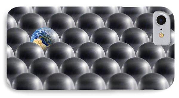 Single Earth, Conceptual Artwork IPhone Case by Detlev Van Ravenswaay