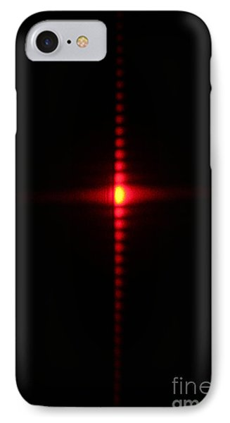 Single Slit Diffraction Phone Case by Ted Kinsman