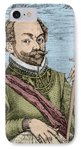 Sir Francis Drake, English Explorer Phone Case by Photo Researchers, Inc.