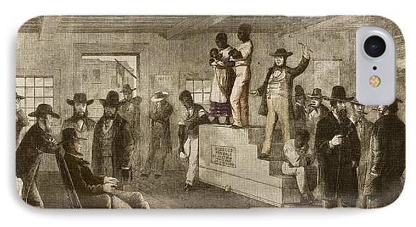 Slave Auction, 1861 Phone Case by Photo Researchers