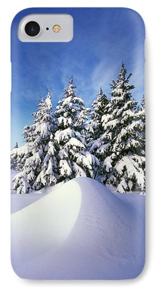 Snow-covered Pine Trees Phone Case by Natural Selection Craig Tuttle