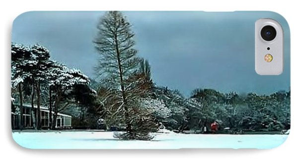 IPhone Case featuring the photograph Snow In Poole Park by Katy Mei