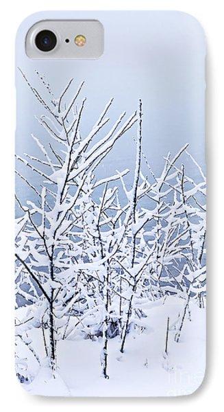 Snowy Trees Phone Case by Elena Elisseeva