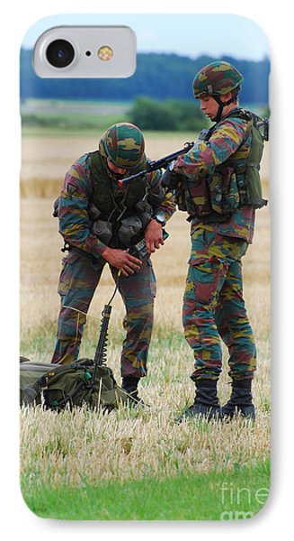 Soldiers Of The Belgian Army Phone Case by Luc De Jaeger