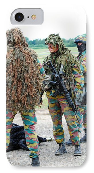 Soldiers Of The Special Forces Group Phone Case by Luc De Jaeger