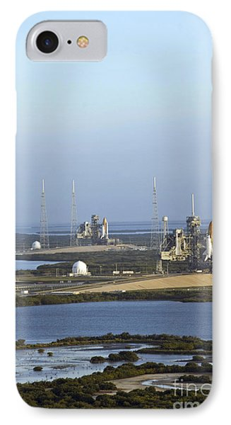 Space Shuttle Atlantis And Endeavour Phone Case by Stocktrek Images