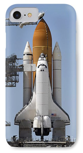 Space Shuttle Endeavour Sits Ready Phone Case by Stocktrek Images