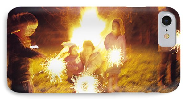 Sparklers IPhone Case by Ian Boddy