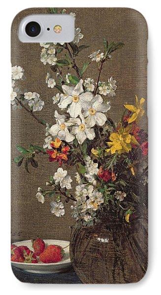 Spring Bouquet Phone Case by Ignace Henri Jean Fantin-Latour