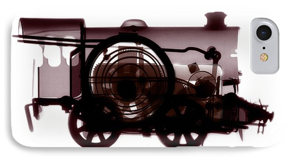 Spring Train, X-ray Phone Case by Neal Grundy