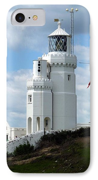 St. Catherine's Lighthouse Phone Case by Carla Parris