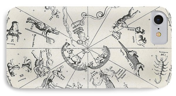 Star Map From Kirchers Oedipus Phone Case by Science Source