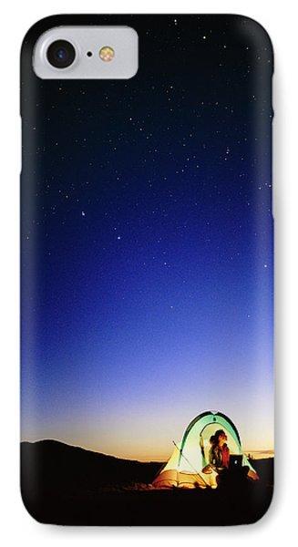 Starry Sky And Stargazer Phone Case by David Nunuk