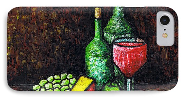 Still Life With Wine And Cheese IPhone Case