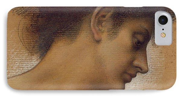 Study Of A Head Phone Case by Evelyn De Morgan