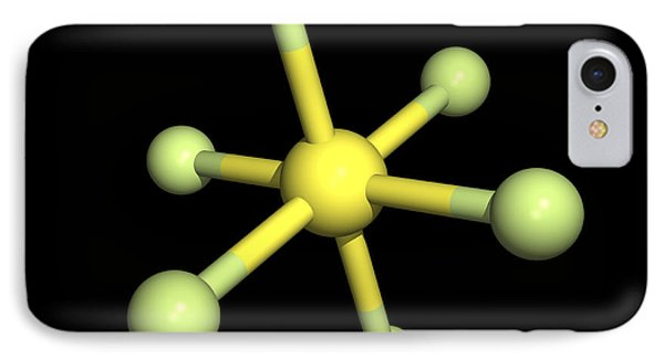 Sulphur Hexafluoride Molecule Phone Case by Friedrich Saurer